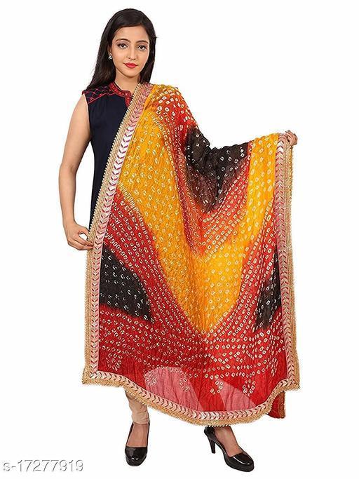 Art Silk Party wear Bandhej Dupatta for Women's
