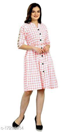 Shruti Designer Checks Dress With Belt