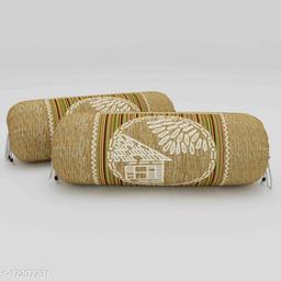 Jaipuri print cotton foam 144 tc Bolster covers pack of 2