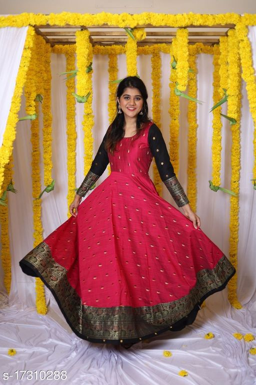Glorious Purple Colored Party wear Tapeta Silk Ready Made Gown