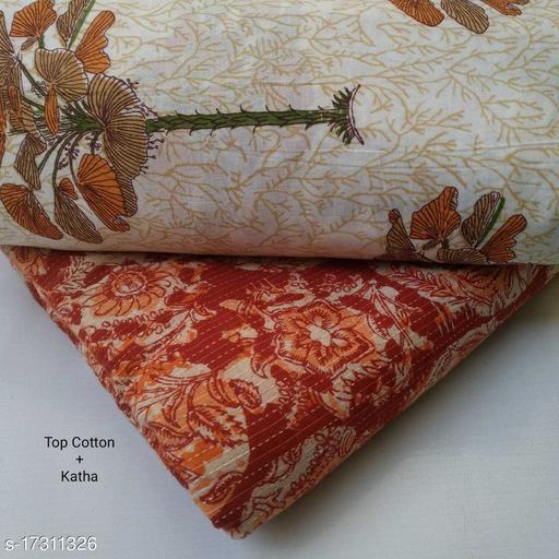 Jaipuri Print Cotton Salwar Kurta Fabric set