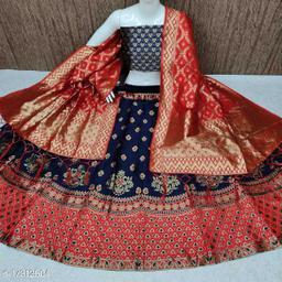 Women's Banarasi Brocade Kali Jacquard Lehenga Choli