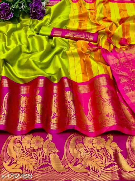 Present by Madhusudan fab new summer and wedding wear Aura cotton silk More designer saree