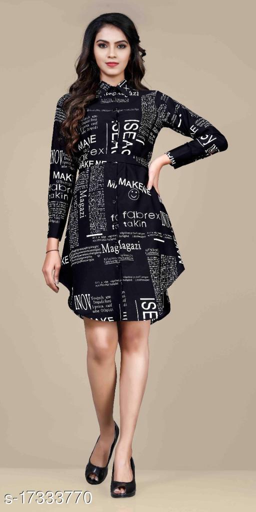 Women's Shirt Paper Print (Black)