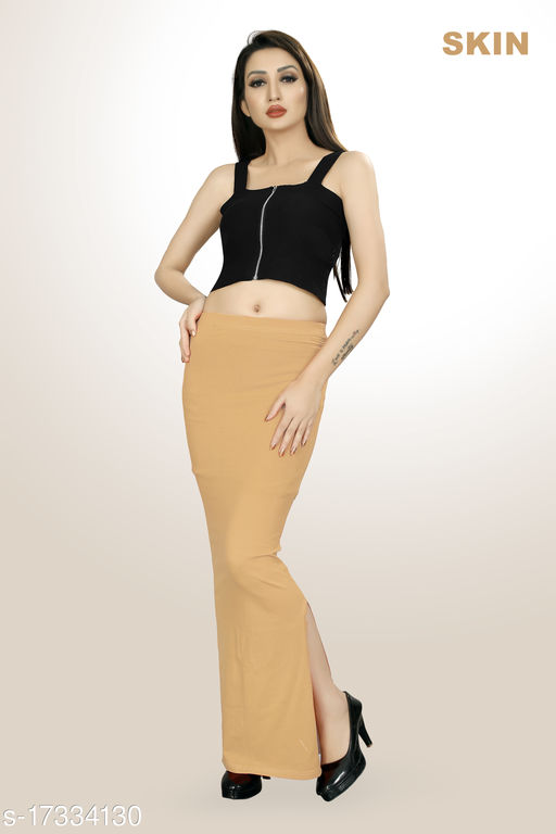 Trendy Saree Shape Wear With Draw String And Side Fish Cut
