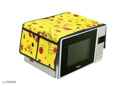 Appliance Covers Finest Laminated Non Woven Microwave Oven Cover  *Material* Laminated Non Woven  *Dimension* (L X B X  H) - 18 in X 14 in  X 13 in  *Description* It Has 1 Piece Of Microwave Oven Cover  *Work* Printed  *Sizes Available* Free Size *   Catalog Rating: ★3.8 (48)  Catalog Name: Finest Laminated Non Woven Microwave Oven Covers Vol 3 CatalogID_226975 C131-SC1624 Code: 951-1733495-