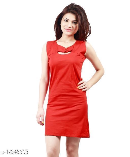 Feminine Red bodycon Women Dresses