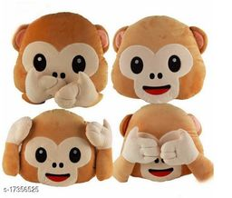 Decorative 4 Pack of Moneky Pillows for Car/Brithday Gift/and Home furnishing