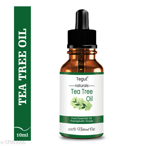 Tegut Tea Tree Essential Oil For Skin, Hair, Face, Acne Care, Pure, Natural And Undiluted Therapeutic Grade Essential Oil (10 ml) (Pack of 1)