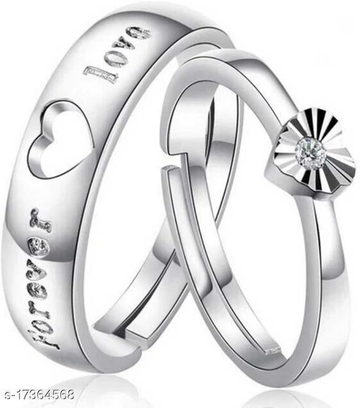 KART View Brass Zircon Silver Plated Ring