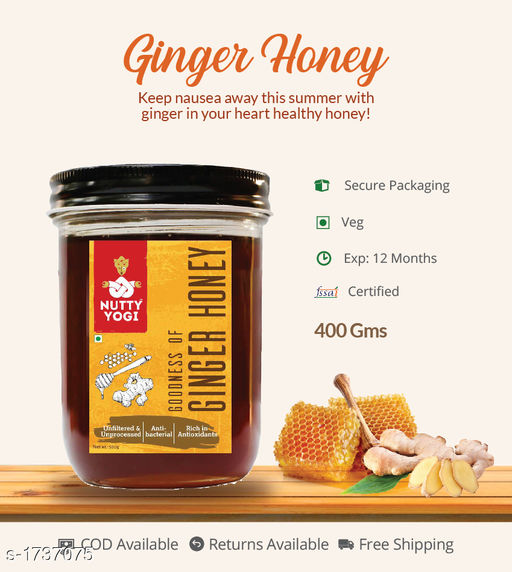 Jams, spreads and sauces Ginger Honey, 400g  Flavored honey with more minerals and with more health advantages  *Sizes Available* Free Size *   Catalog Rating: ★4 (4)  Catalog Name: Flavored Honey CatalogID_227497 C93-SC1355 Code: 172-1737075-992