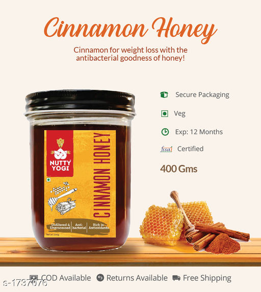 Jams, spreads and sauces Cinnamon Honey, 400g  Flavored honey with more minerals and with more health advantages  *Sizes Available* Free Size *   Catalog Rating: ★4 (4)  Catalog Name: Flavored Honey CatalogID_227497 C93-SC1355 Code: 972-1737076-992