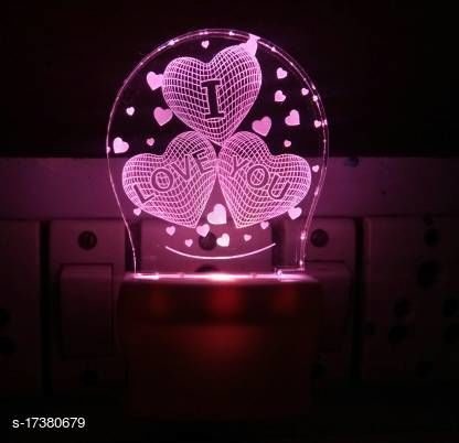 3D ILLUSION LED NIGHT LIGHT WITH 7 LED COLOR CHANGING FOR BEDROOM DECORATION