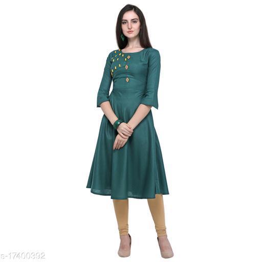 Green Colour Rubi Cotton