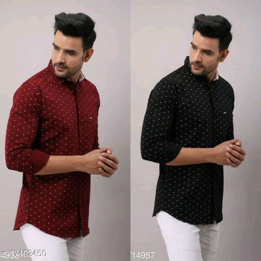 Zyla printed casual shirt pack of 2