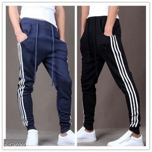 Trendy Casual Spun Polyester Solid Track Pants