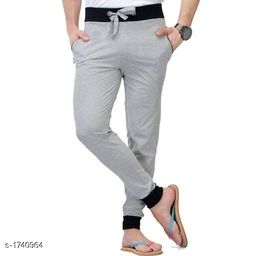 Trendy Casual Spun Polyester Solid Track Pant