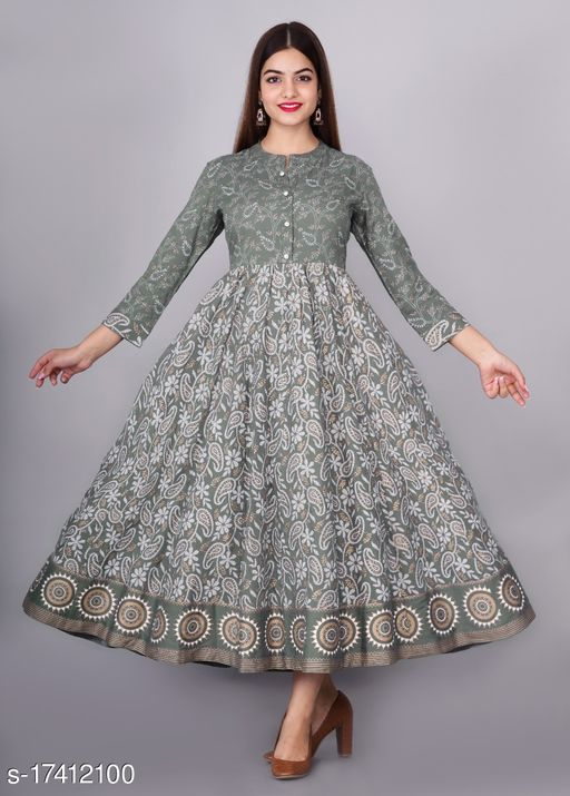 Tansu Collection Cotton Long Anarkali Gown Premium Quality (RT061)