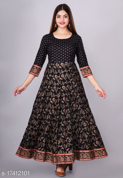 Tansu Collection Rayon Long Anarkali Gown Premium Quality (RT066)