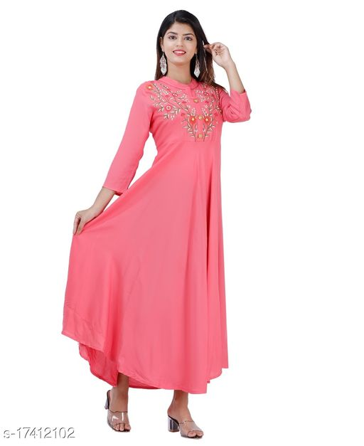 Tansu Collection Rayon Long Anarkali Gown Premium Quality (RT078)
