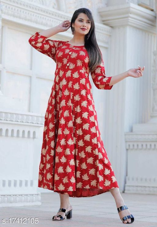 Tansu Collection Rayon Long Anarkali Gown Premium Quality (RT075)