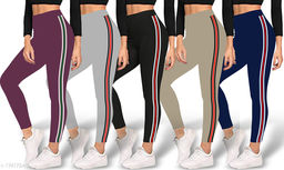 Strechable Yoga Pant Jeggings Combo pack of 5