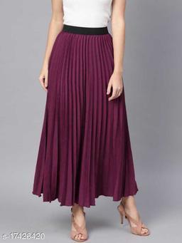 Western Looks Woman Pleated Skirt