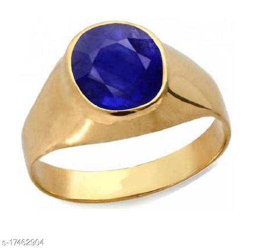 Original 5.5 Carat A1Quality Natural Blue Sapphire Neelam Gold Plated adjustable Gemstone Ring for Women's and Men's
