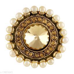 Asmitta Traditional designer Gold toned Finger Ring For Women