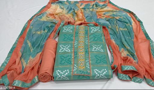 designer Jaipuri Bandhani check suit