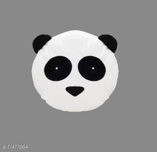 Nitsha Cotton Solid Cushion Panda Cartoon Shape Pack of 1