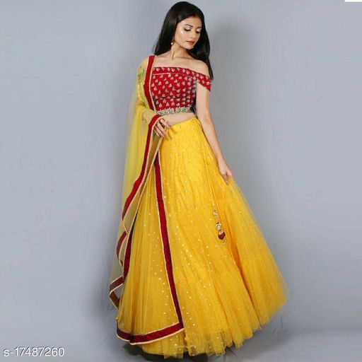 New Red & Yellow color Lehenga Choli Set