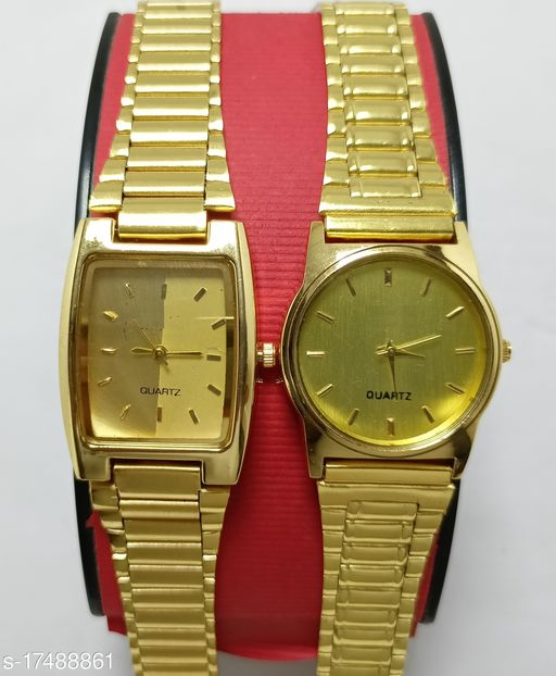 Attractive Metal Couple Watch for Couple