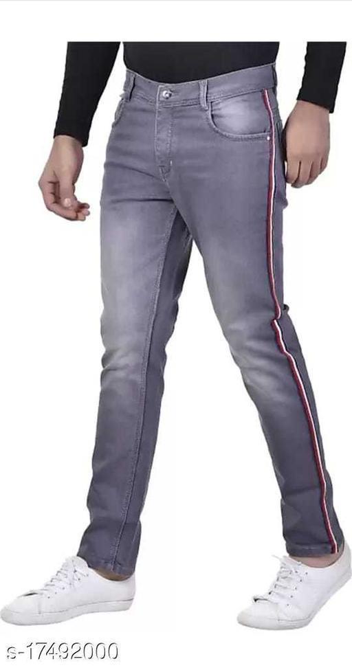 side stripe men's jeans
