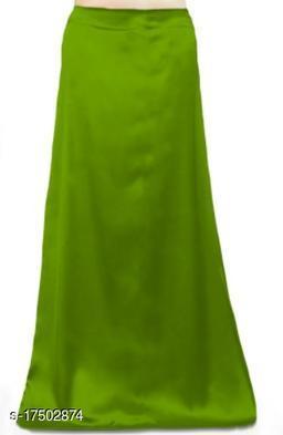Angloindian  OLIVE GREEN SATIN PETTICOAT