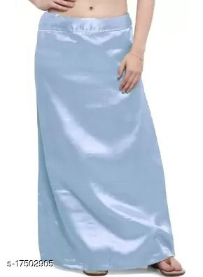 Angloindian  BABY BLUE SATIN PETTICOAT