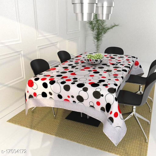 HG Home dining table cover 4 seater plastic ( 40 x 60 Inches )