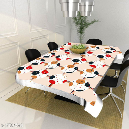 HG Home dinning table cover for 4 seater plastic ( 40 x 60 Inches )