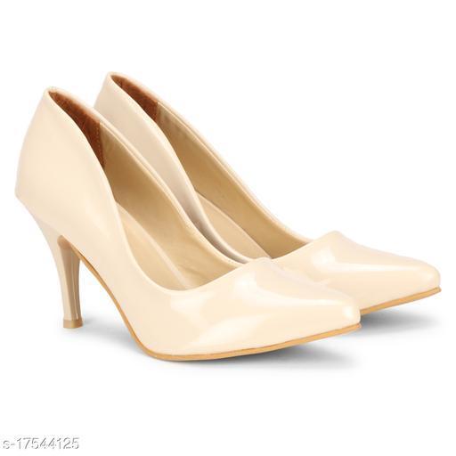 BigBird Attractive Women's Synthetic Cream Heels