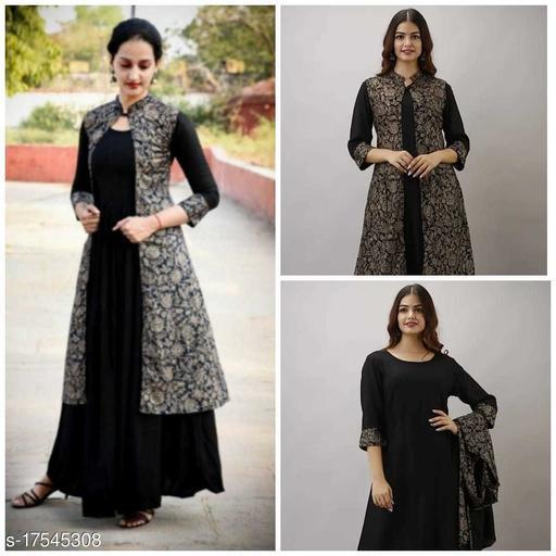 Women's latest designer Kurta gown with jacket dress
