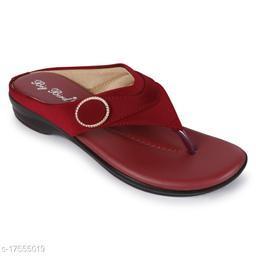 BigBird Stylish Women's Synthetic Maroon Sandals