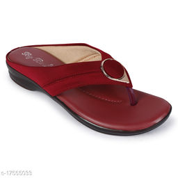 BigBird Women Maroon Color Sandals