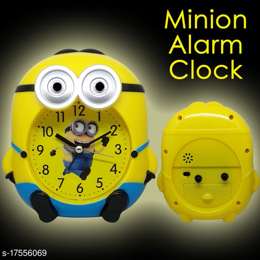 Vice Yellow And Blue Color Minion Alarm Clock For Kids And School Rooms