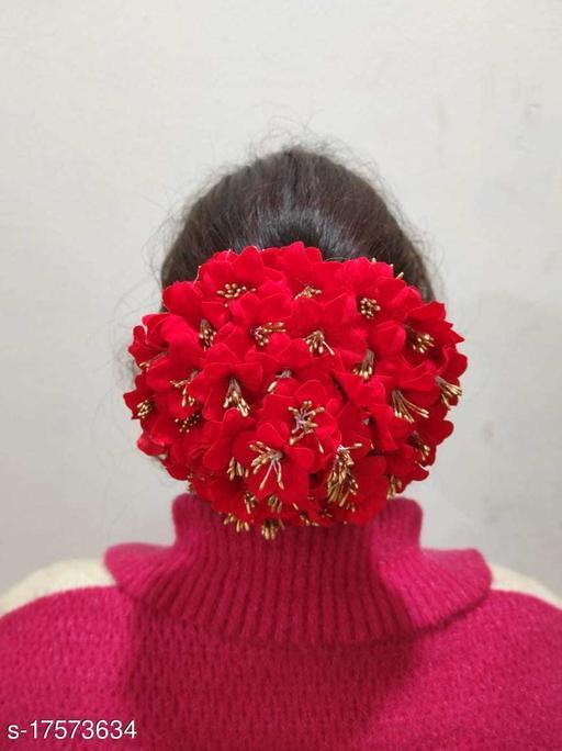 Valentine Special Red Flower Bun
