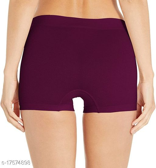 Women Boy Shorts Maroon Cotton Panty