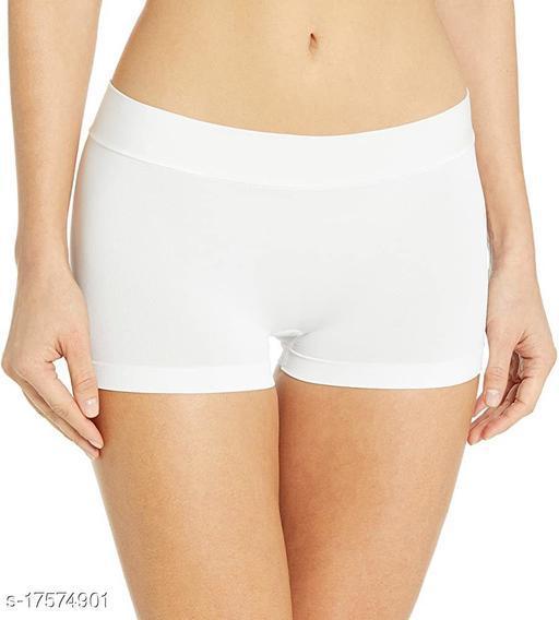 Women Boy Shorts White Cotton Panty