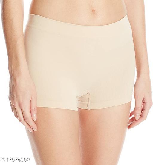 Women Boy Shorts Beige Cotton Panty