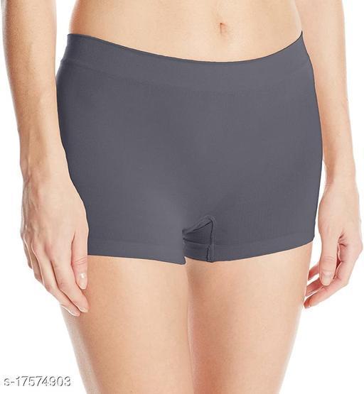 Women Boy Shorts Grey Cotton Panty