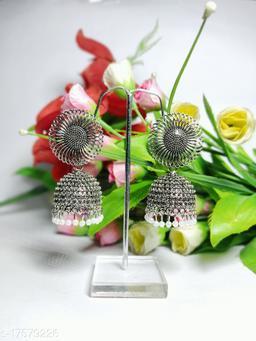Stylish Silver Color Fancy Party Wear Earrings for Girls