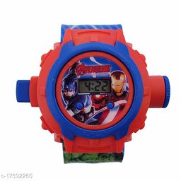 Avengers Kids watch with 24 Crids Laser Projection